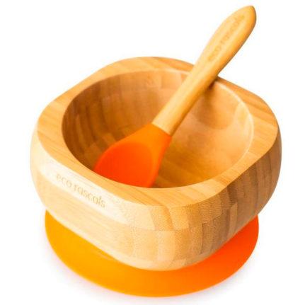 bol y cuchara bambú
